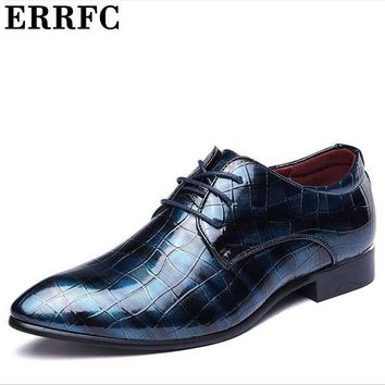 ERRFC Hot Selling Leather Dress Shoes Plus Size 12 13 14