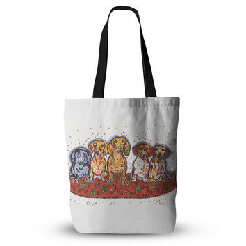"Rebecca Fischer ""Maksim Murray Enzo Ruby & Willy"" Daschunds Everything Tote Bag"
