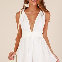 California sunset playsuit in White Produced By SHOWPO