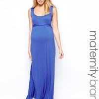 New Look Maternity Pleat Front Maxi Dress