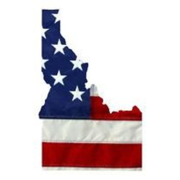 State of Idaho Realistic American Flag Window Decal - Various Sizes