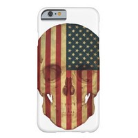 American Flag Skull Barely There iPhone 6 Case