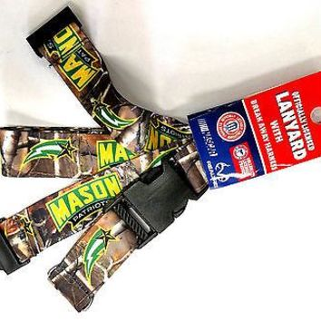George Mason Patriots CAMO EKU RR Deluxe 2-sided Lanyard Keychain University of