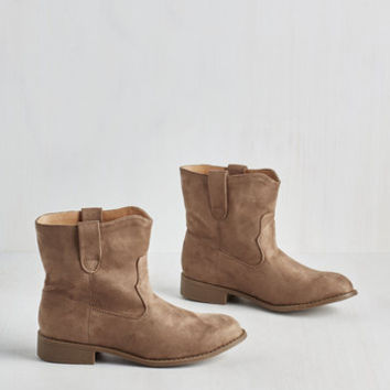 Boho Travel Buddies Bootie in Taupe