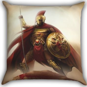spartan soldier Zippered Pillows  Covers 16x16, 18x18, 20x20 Inches