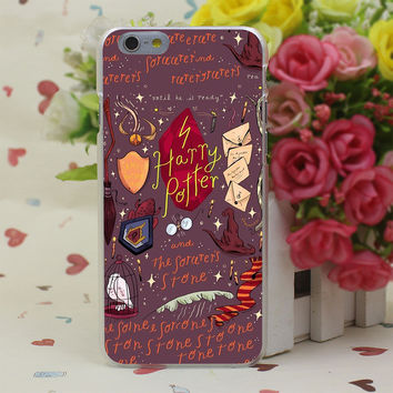 Harry Potter and the Sorcer's Stone Sticker Hard Transparent Case Cover for iPhone 4 4S 5 5S SE 5c 6 6s 7 7 Plus