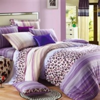 Lavender Leopard Twin XL Comforter Set - College Ave Designer Series Comforters For College Students