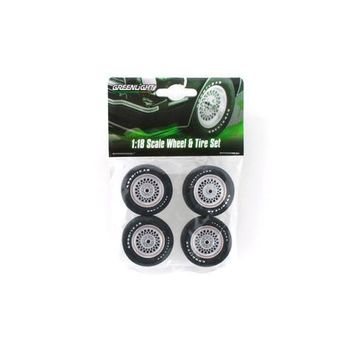 "Wheels and Tires Set ""Ford Mustang II King Cobra"" for 1/18 Scale Models by Greenlight"