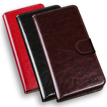 Luxury PU Leather Flip Wallet Protective Case For LG SmartPhones
