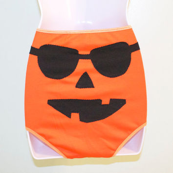 high waist sunglasses jack o lantern underwear