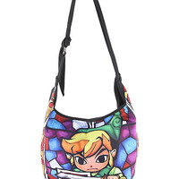 The Legend Of Zelda Link Stained Glass Hobo Bag