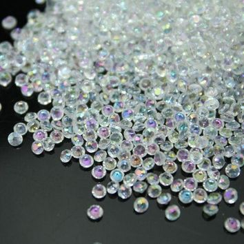 ac NOOW2 10000pcs/bag 2.5mm AB-clear color Acrylic Diamond Confetti wedding decoration Table Scatter Decoration bridal shower