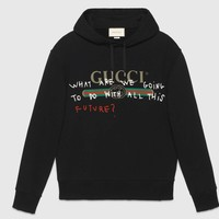 Gucci Fashion Trending  Men Pullover Long Sleeve Sweater Blakc G-KWKWM
