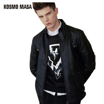 Male Turkey Motorcycle Bikers Jackets Hip Hop Mens Skull Black Slim Fit Skin Leather Suede