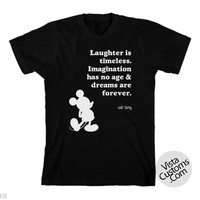 Disney Quote walt disney 1New Hot Black T-Shirt