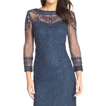 Women's JS Collections Soutache Mesh Sheath Dress