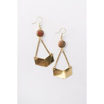 Zelda Drop Earrings (Gold)