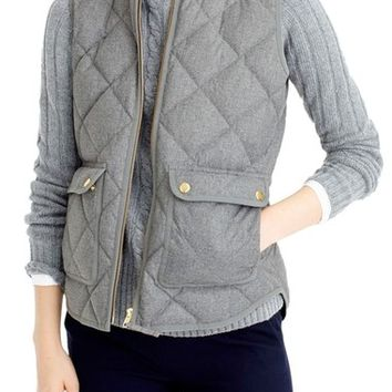 J.Crew Excursion Quilted Flannel Vest (Regular & Petite) | Nordstrom