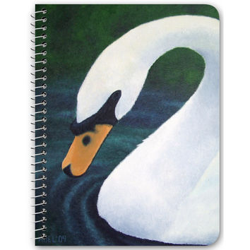 Grace - Notebook of Swan Acrylic Paint Fine Art