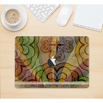 """The Vintage Swirled Colorful Pattern Skin Kit for the 12"""" Apple MacBook"""