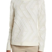 Tory Burch Weston Textured Wool Sweater | Nordstrom