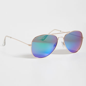 aviator sunglasses with mirrored lenses