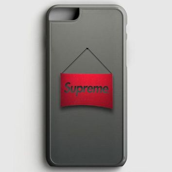 Supreme Logo Red Minimalism iPhone 8 Case | casescraft