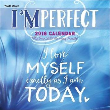 Imperfect Wall Calendar, Inspirational Quotes by Brush Dance