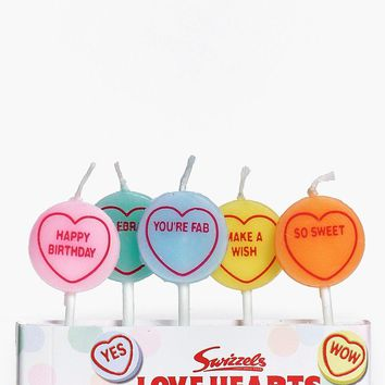 Love Hearts Pack of 5 Birthday Candles | Boohoo