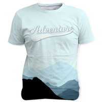 """Adventure/Mountains"" Sublimation T Shirts/Tees"