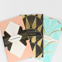 Chronicle Art Deco Notebook - Set Of 3 - Urban Outfitters