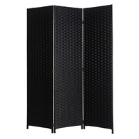 "Screen Gems Pensacola Screen 72"" Room Divider, Black"