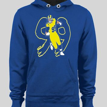 LOS ANGELES RAM'S AARON DONALD #99 ART WINTER HOODIE/ SWEATER