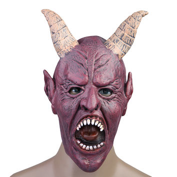 Full Face Mask Claw Scary Fierce Party Mask Halloween Masquerade Adult Mask Cosplay Party Costume Red