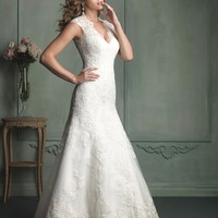 Allure Bridals 9113 Sheer Lace Back Wedding Dress