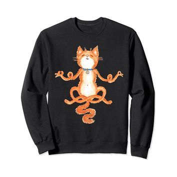 Meditation Yoga Cat Sweatshirt