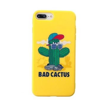 Candy Color Soft TPU Rubber Silicon iPhone Case - Bad Cactus