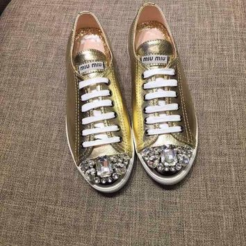 MIU MIU Fashionable casual shoes and low help shoes