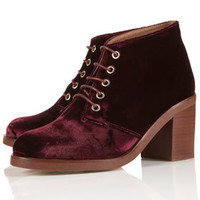 ARTIST Block Heel Lace-Ups - Boots  - Shoes
