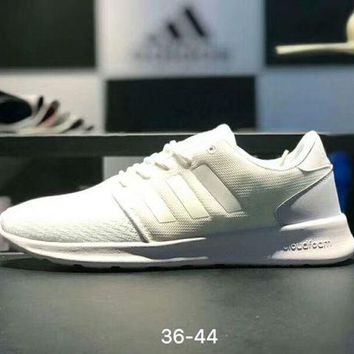 Adidas Fashion Women Men Breathable Mesh Comfortable Light Running Shoes Sport Sneakers Full White I-AA-SDDSL-KHZHXMKH