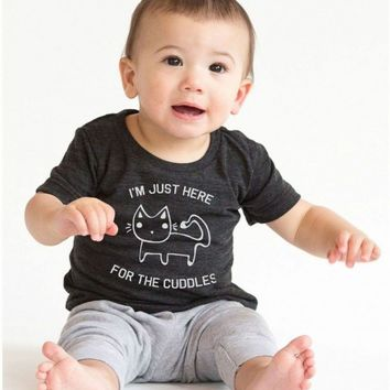 Here for the Cuddles Infant Tee | CrazyDog TShirts