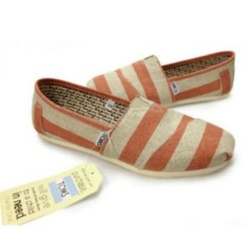 VLX0E4 2017 NEW TOMS MENS &WOMENS ZEBRA CANVAS CASUAL SHOES