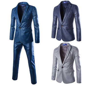 Men Slim Business Suits