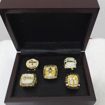 kobe bryant nba championship rings w wooden box  number 2