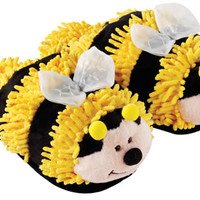 Aroma Home Fuzzy Feet Slippers - Bee