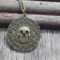 Vintage Style Pirates of the Caribbean Coin Pendant by hannahome