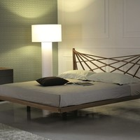 Wooden double bed MORGAN by Cattelan Italia | design Andrea Lucatello