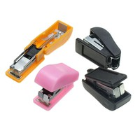 Mini Stapler with No.10 Staples Set Plastic Stapler Paper Mini Binder Office Accessories School Stationary Set Color Random