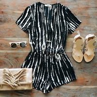 A Black and White Romper