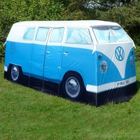 Replica 1965 Volkswagen Camper Van 4-person Tent - Licesnsed by VW (Blue)
